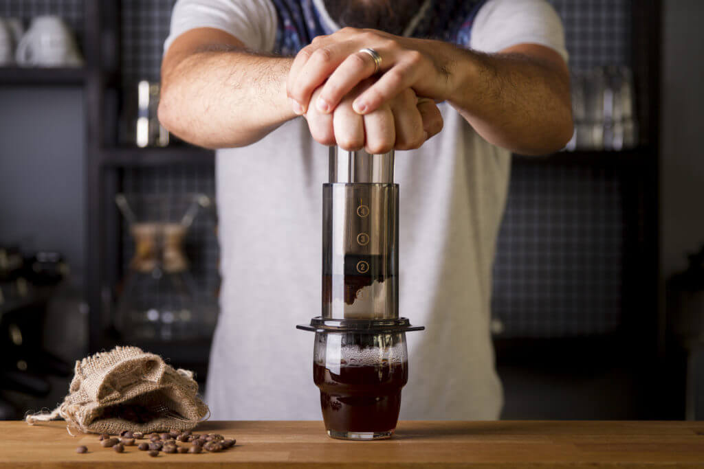 How to make making espresso with AeroPress